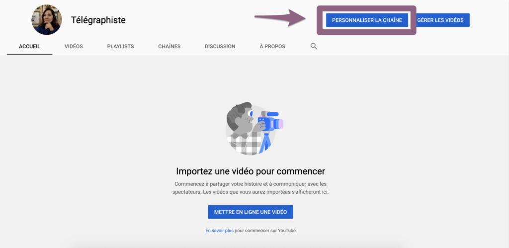 Chaine Youtube visuel