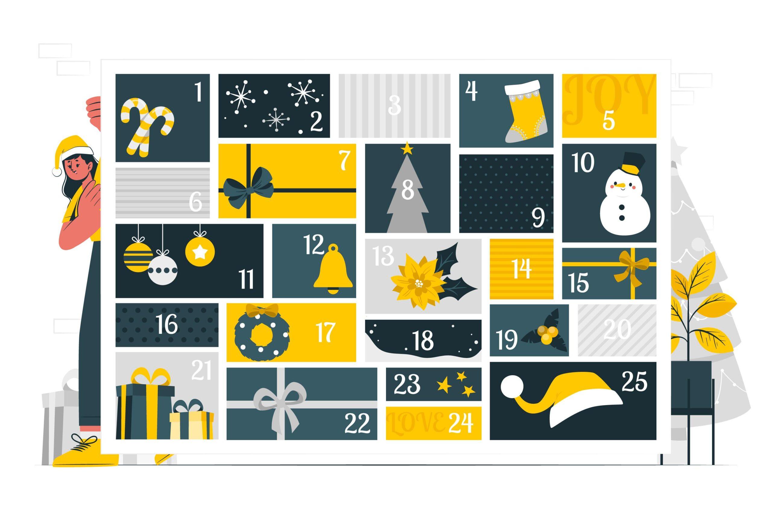 Ton calendrier de Noël pour une communication efficace – freebie