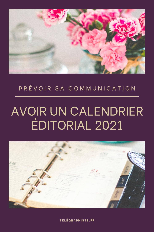 Calendrier éditorial 3