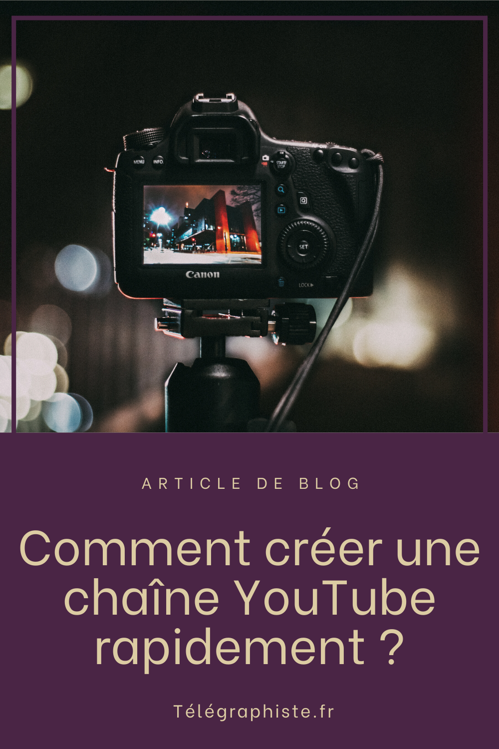 Créer une chaine Youtube 2